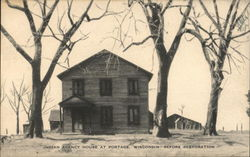 Indian Agency House at Portage, Wisconsin--Before Restoration