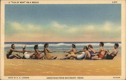 "Greetings - A ""Tug of War"" on a Beach"