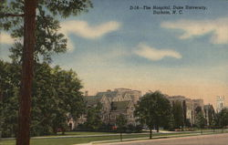 The Hospital, Duke University Postcard