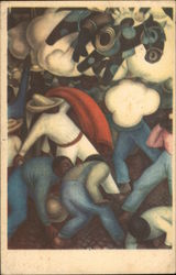Quema de los Judas -- Burning of Judas - Diego Rivera Fresco