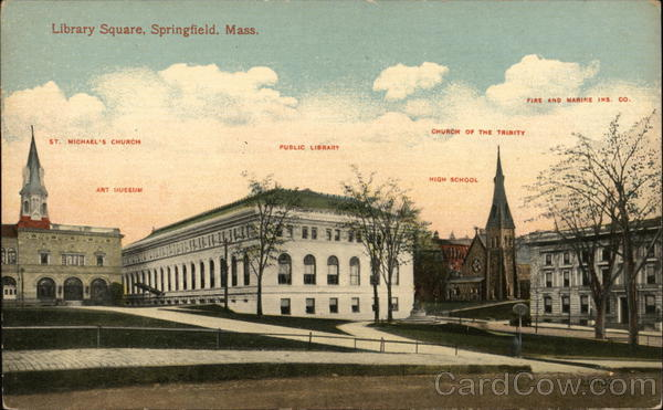 Library Square Springfield Massachusetts
