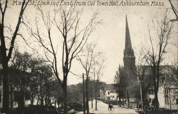 Main St. Looking East From Old Town Hall Ashburnham Massachusetts