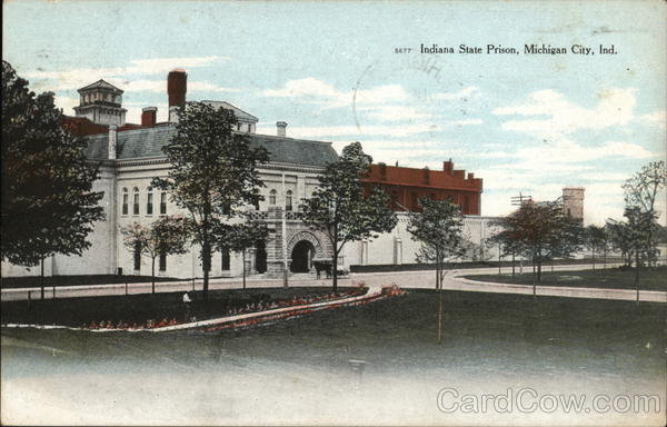 Indiana State Prison Michigan City In Postcard