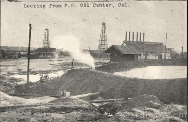 Looking from P.O. Oil Center California