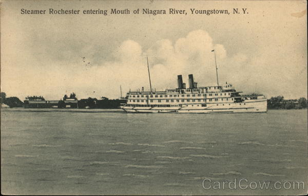 Steamer Rochester Entering Mouth of Niagara River Youngstown New York