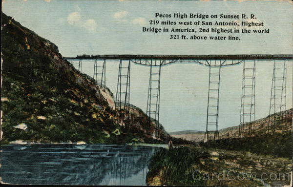 Pecos High Bridge on Sunset RR Railroad (Scenic)