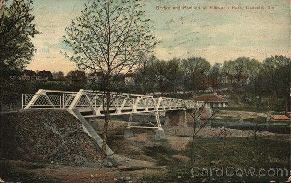 Ellsworth Park- Bridge and Pavillion Danville Illinois