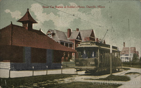 Street Car Station at Soldier's Home Danville Illinois