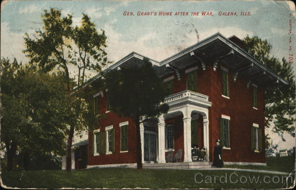 Gen. Grant's Home After the War Galena Illinois
