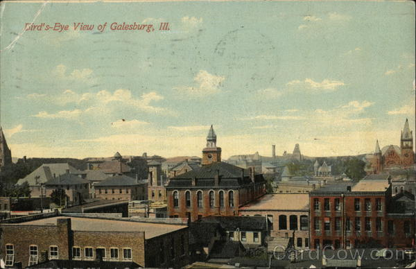 Bird's-Eye View of Town Galesburg Illinois