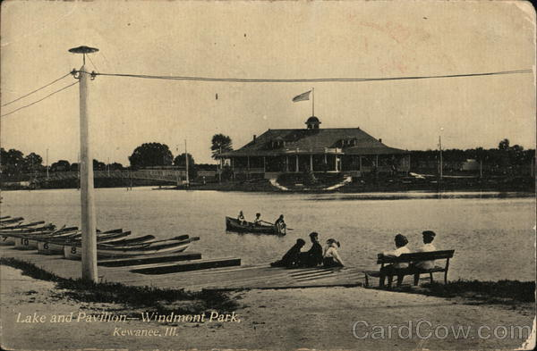 Lake and Pavilion - Windmont Park Kewanee Illinois