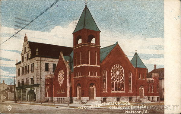 1st Congregational Church & Masonic Temple Mattoon Illinois