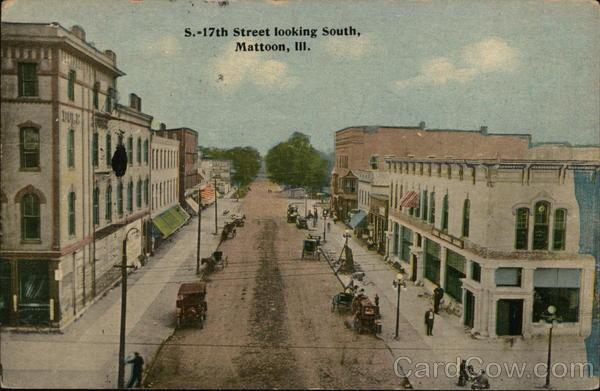 17th Street Looking South Mattoon Illinois