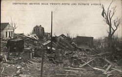 Destroyed Section Near Twenty-Ninth and Patrick Avenue
