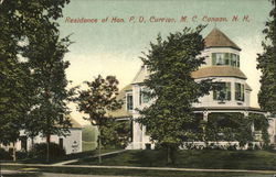 Residence of Hon. P.D. Currier, M. C. Postcard