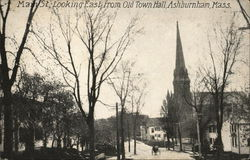 Main St. Looking East From Old Town Hall Postcard