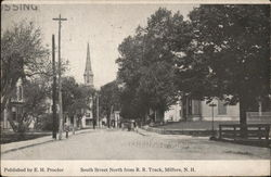 South Street From RR Track Postcard