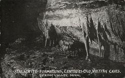 Stalactite Formations-Mystery Caves Postcard
