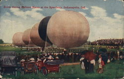Scene During Balloon Races at Speedway