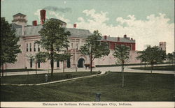 Entrance to Indiana Prison Postcard