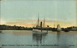 "Boston Steamer ""Cape Ann"" Entering Harbor"
