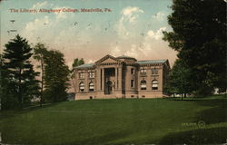 The Library, Allegheny College Postcard