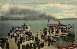 Excursionists Landing at Exposition Park