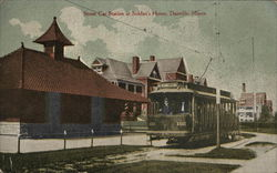Street Car Station at Soldier's Home