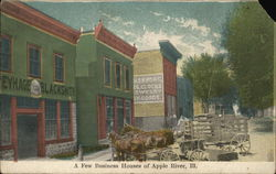 Apple River, IL- A Few Business Houses (shops)