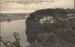 Lovers Leap and Illinois River Valley from Starved Rock near Utica