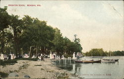 View of Brighton Beach Postcard