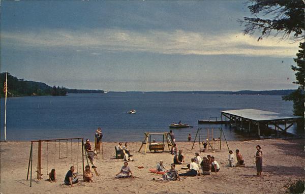 Twin Points Resort Hamlin Lake Ludington Mi Postcard