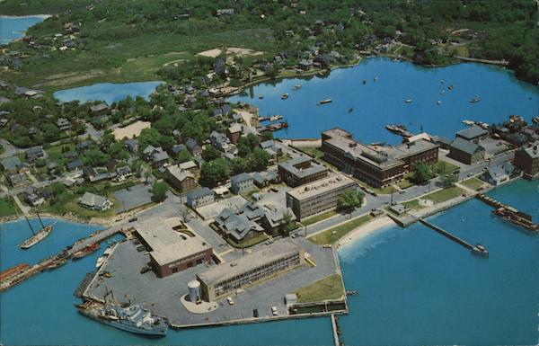 Aerial View of Woods Hole Cape Cod Massachusetts
