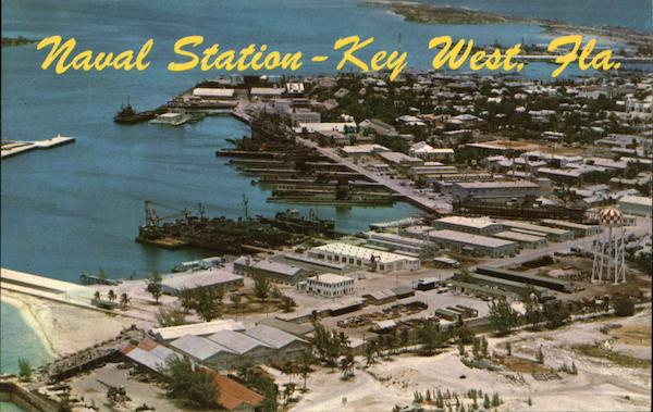 Aerial View of Key West Naval Station Florida