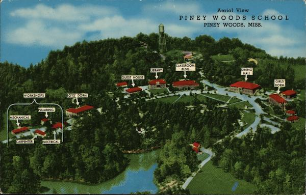 Aerial View of Piney Woods School Mississippi