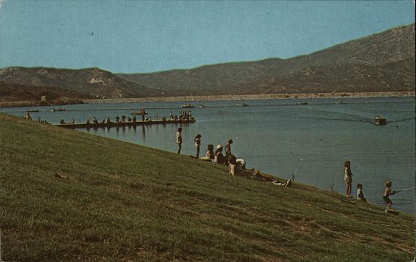 Lake poway california postcard for Lake poway fishing