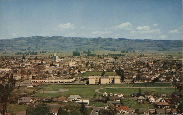 View of Town Petaluma California