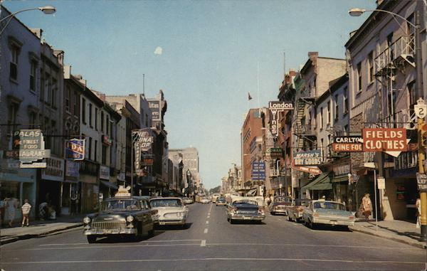 Looking East on Dundas Street London Canada Ontario