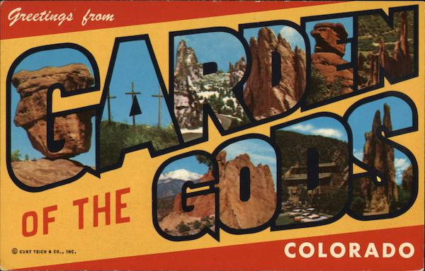 greetings from garden of the gods colorado springs  co