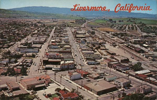 Aerial View of Town Livermore California