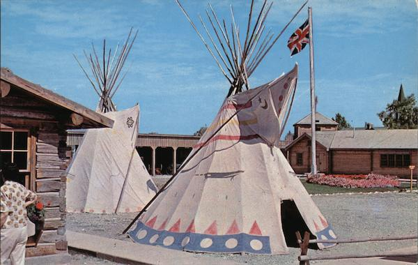 Replica of Old Fort MacLeod - Indian Teepees Canada