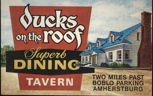 Ducks on the Roof Restaurant and Tavern Amherstburg Canada