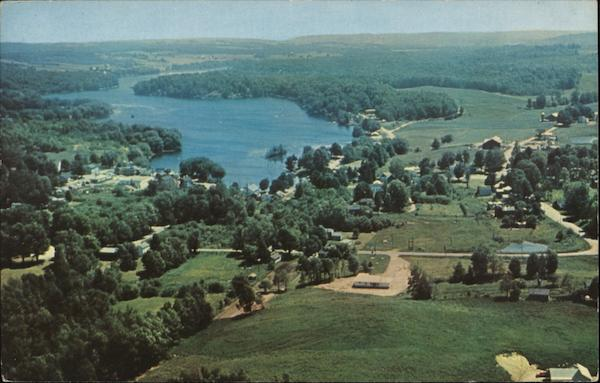 Aerial View Findley Lake New York