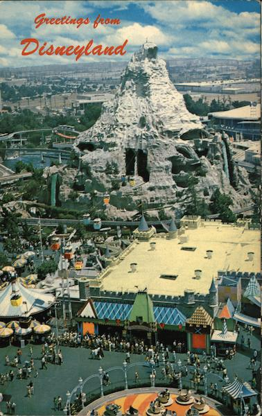 Aerial View of Disneyland and Matterhorn