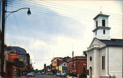 Main Street showing Methodist Church Postcard
