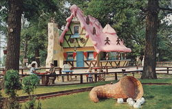 Santa's Village - Gingerbread House Postcard