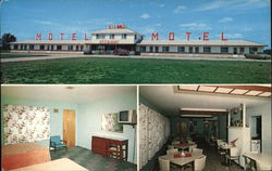 Pastell's Hi-Land Motel and Standard Service Postcard