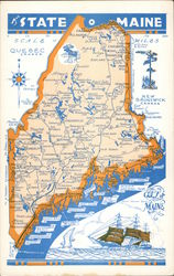 Road Map of The State O' Maine