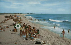 Bathers at Surfside Beach