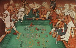 A Hot Dice Game - Dogs Playing Craps